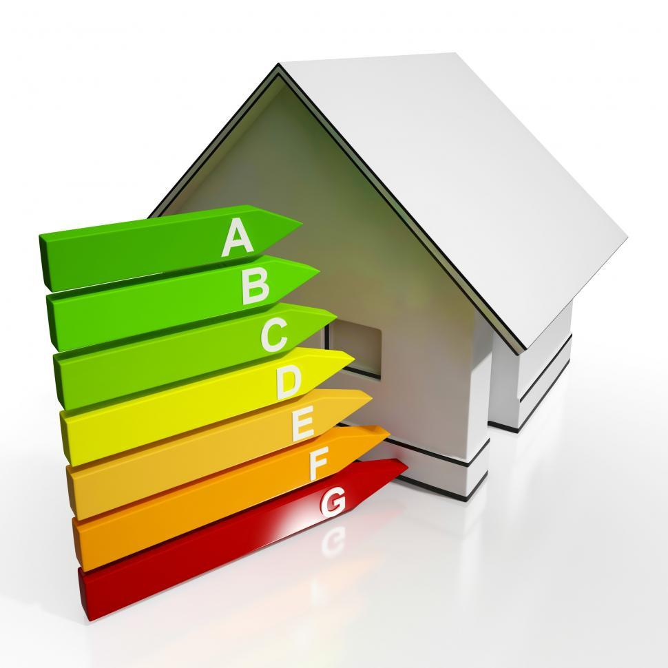 Download Free Stock HD Photo of Energy Efficiency Rating And House Shows Conservation Online
