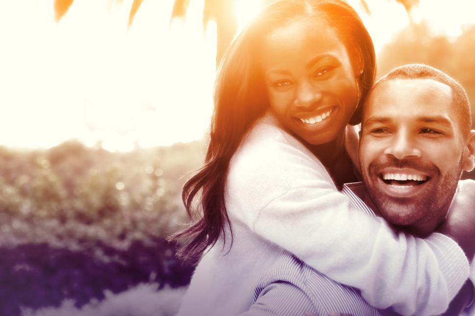 Download Free Stock HD Photo of Joyful Couple Hugging in Love - Colorized Online