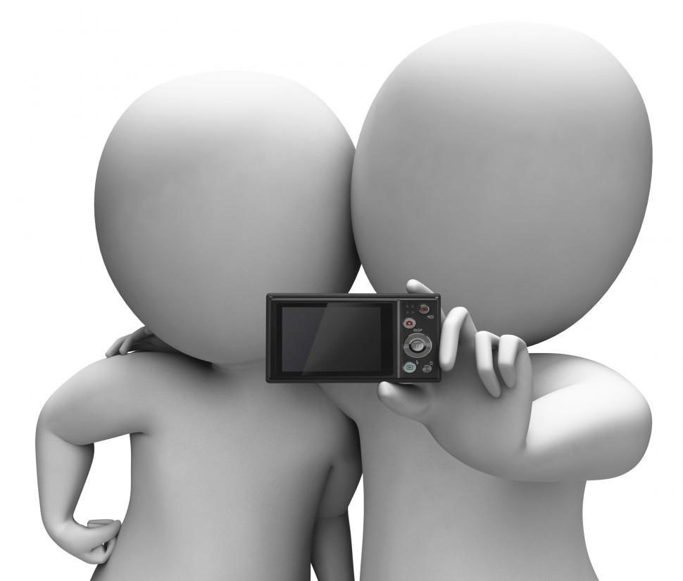 Download Free Stock HD Photo of Couple Portrait Photo Shows Camera Self Photo Snapshot Online