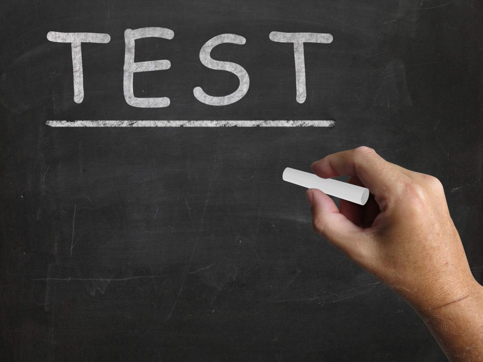 Download Free Stock HD Photo of Test Blackboard Shows Assessment Exam And Grade Online