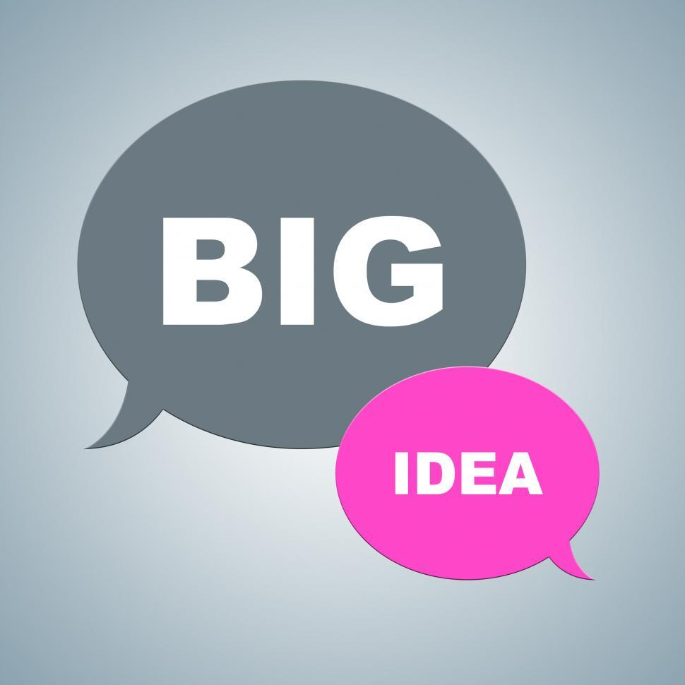 Download Free Stock HD Photo of Big Idea Represents Thinking Plans And Ideas Online