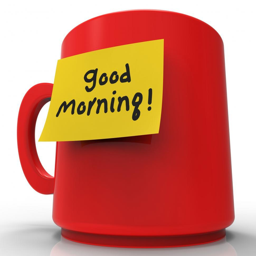Download Free Stock HD Photo of Good Morning Message Indicates Wake Up 3d Rendering Online
