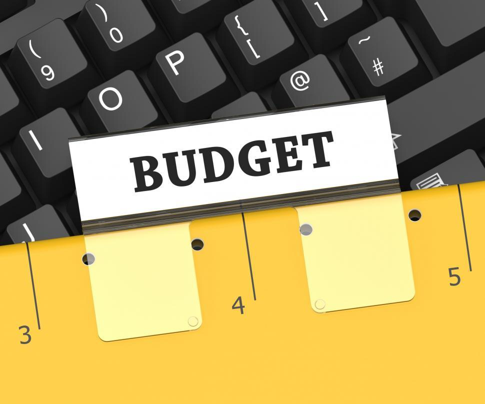 Download Free Stock HD Photo of Budget File Represents Reasonably Priced And Budgeting 3d Render Online