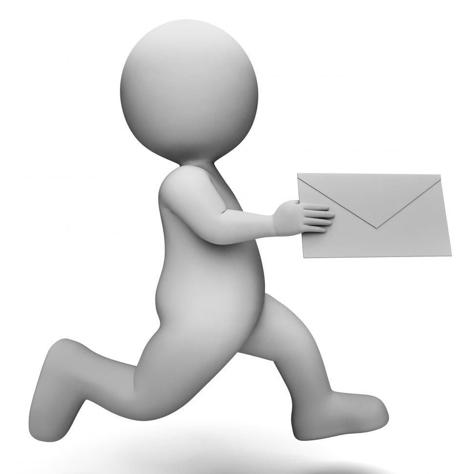 Download Free Stock HD Photo of Email Message Represents Communicate Communication And Man 3d Re Online