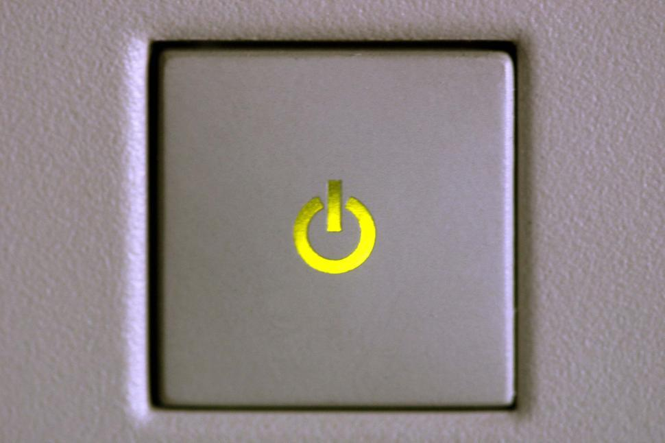 Download Free Stock HD Photo of Illuminated power button Online