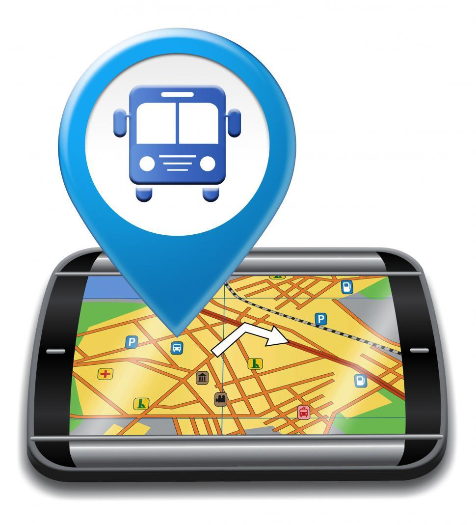 Download Free Stock HD Photo of Bus Gps Means Public Transport And Buses Online