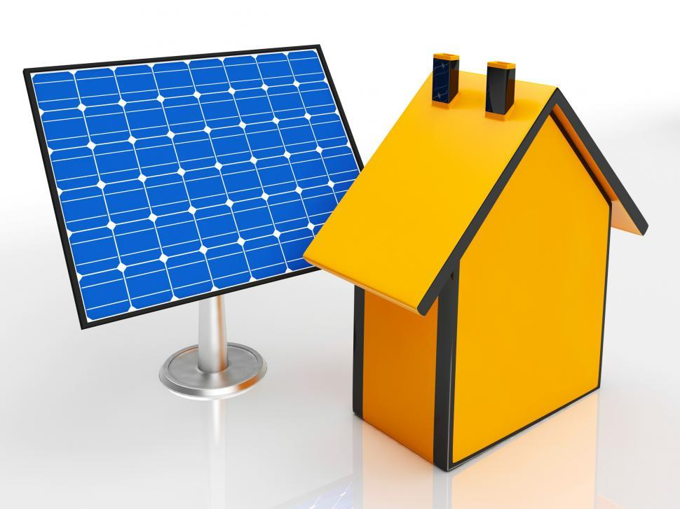 Download Free Stock HD Photo of Solar Panel By House Showing Renewable Energy Online