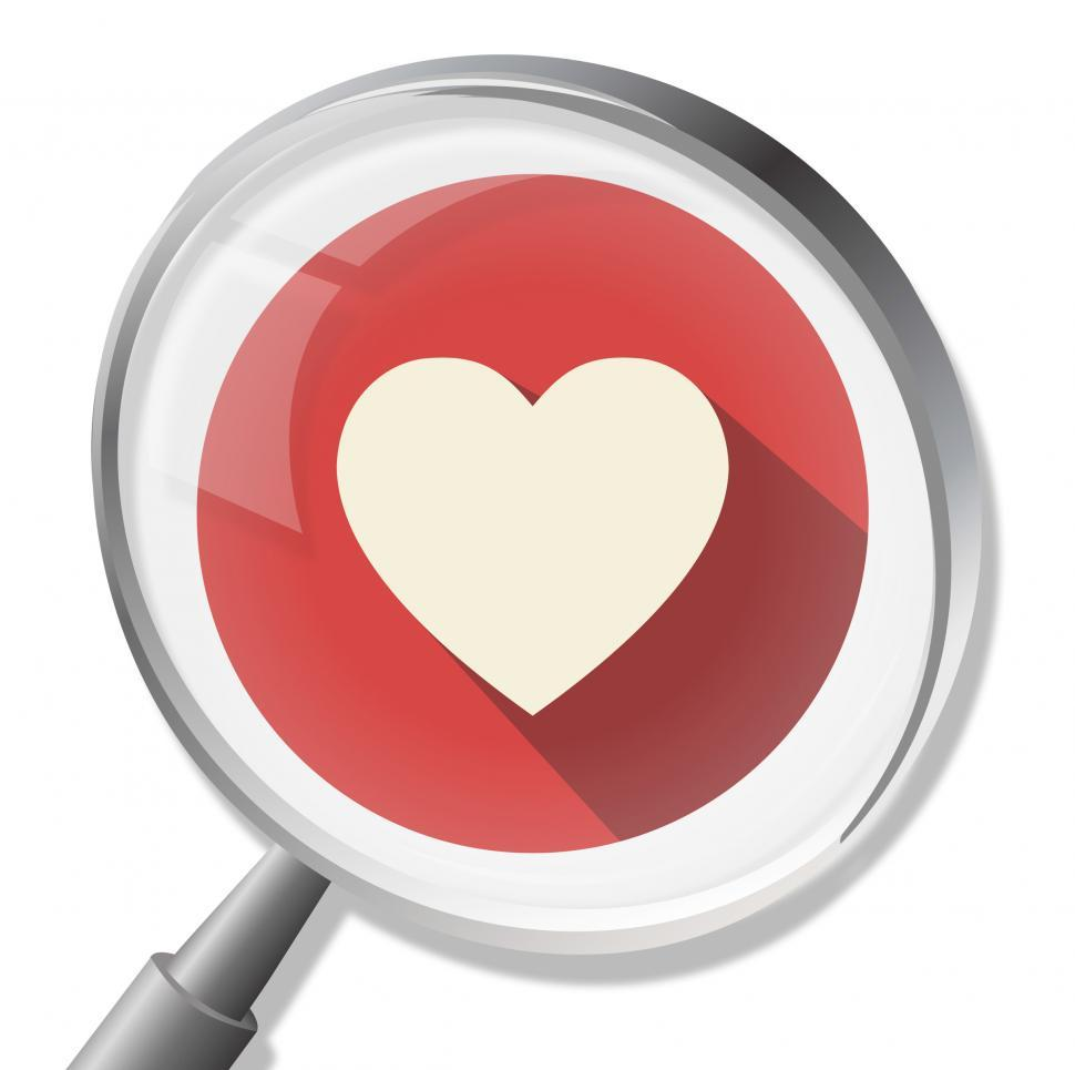 Download Free Stock HD Photo of Heart Magnifier Shows In Love And Healthcare Online