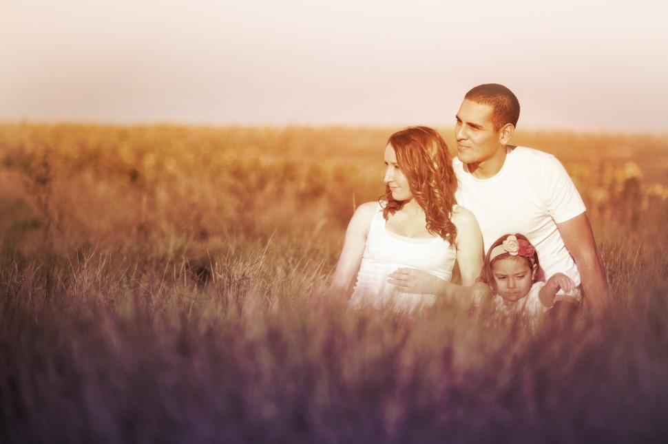 Download Free Stock HD Photo of Family of Three in the Prairie Online