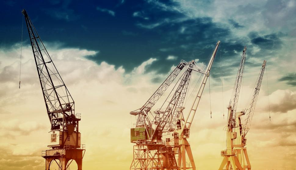 Download Free Stock HD Photo of Cranes at Port Online