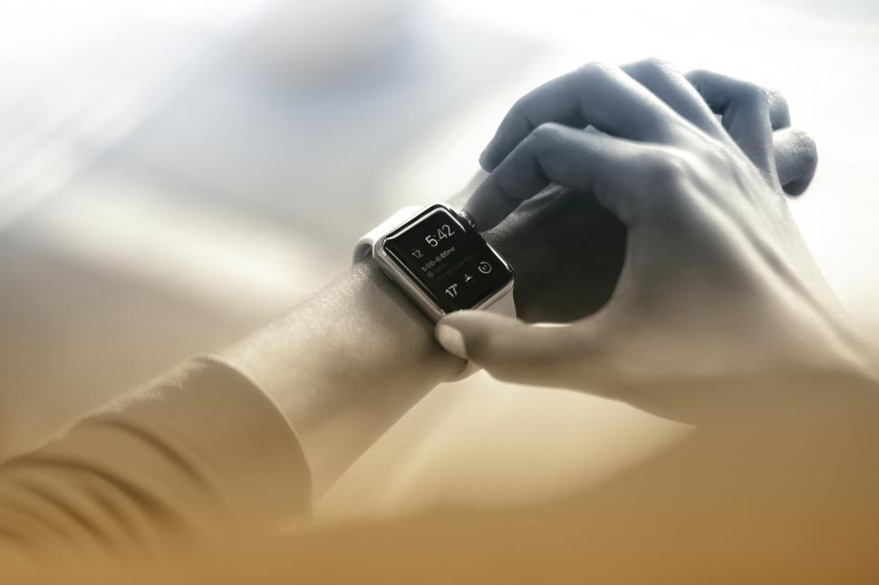 Download Free Stock HD Photo of It Is Time - Checking the Time on Smartwatch Online