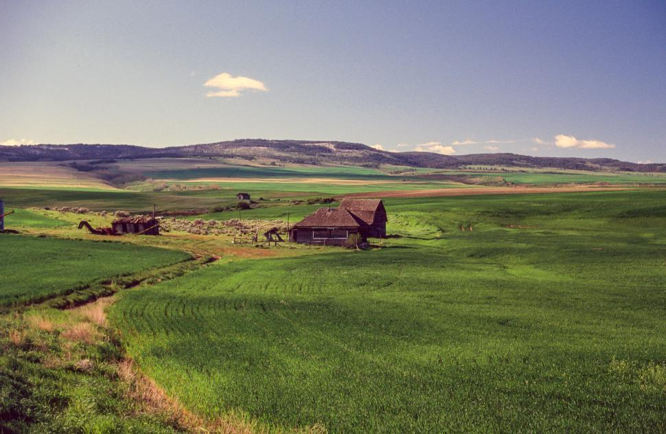 Download Free Stock HD Photo of Farmland at Driggs, Idaho Online