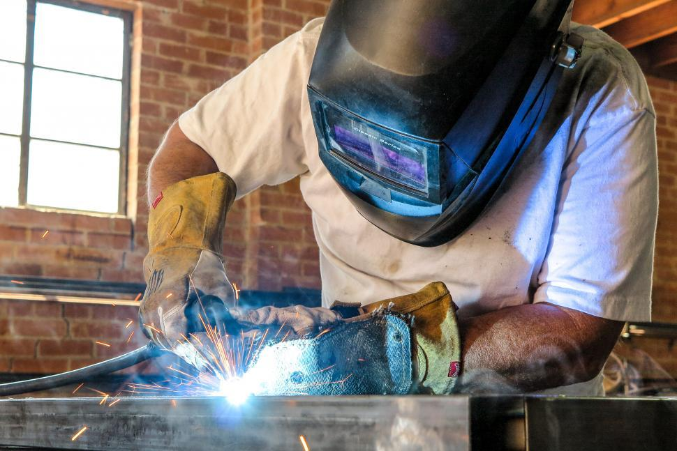 Download Free Stock HD Photo of Steel fabriaction workshop Online