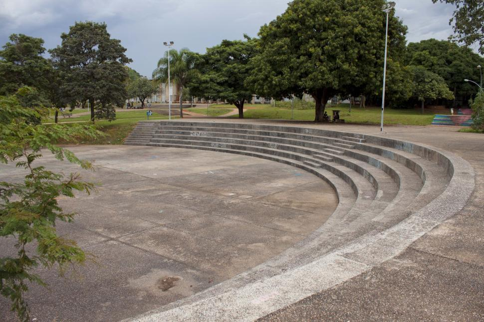 Download Free Stock HD Photo of Amphitheater in a park Online