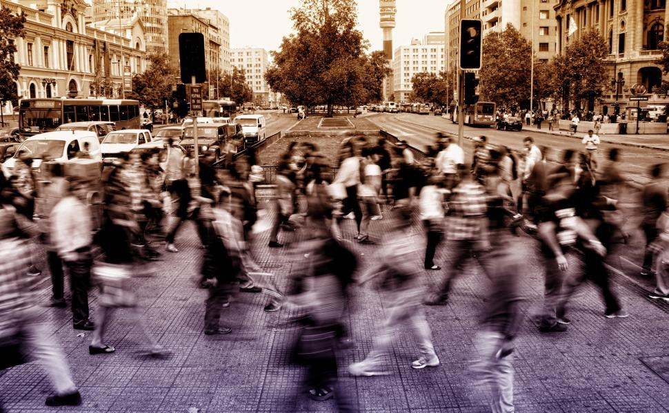 Download Free Stock HD Photo of Urban Scene - People Crossing Avenue - Blurry Looks Online