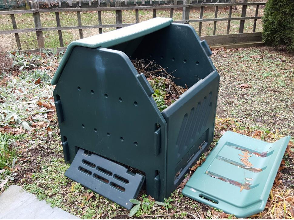 Download Free Stock HD Photo of Compost Bin Open Online