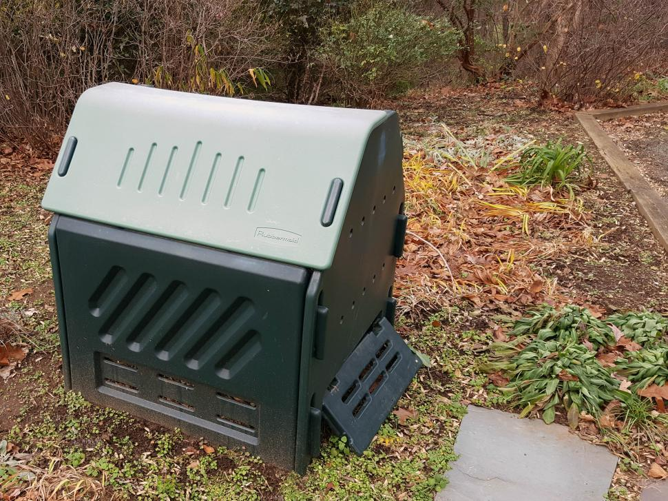 Download Free Stock HD Photo of Compost Bin in the Garden Online