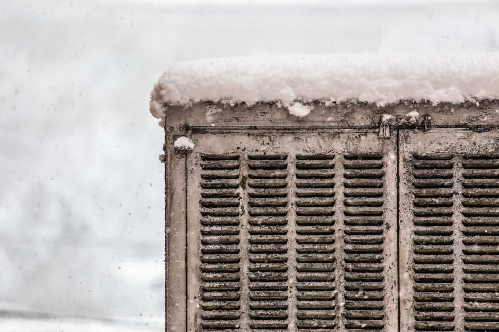 Download Free Stock HD Photo of Cooler covered in snow Online
