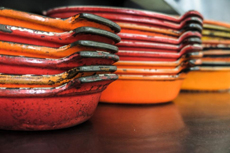 Download Free Stock HD Photo of Cast Iron pans Online