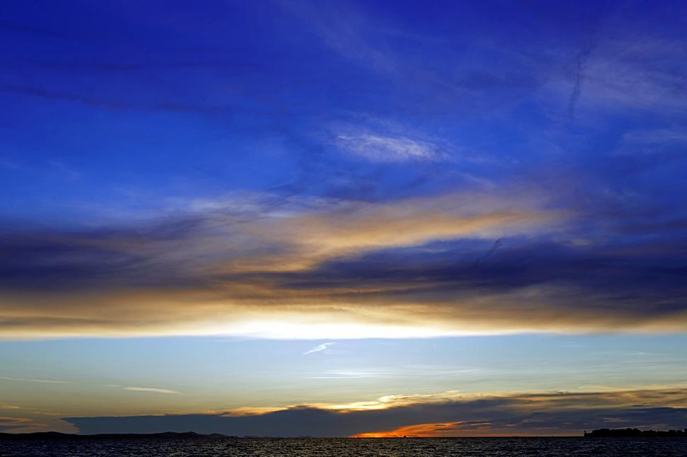 Download Free Stock HD Photo of Blue sunset  Online