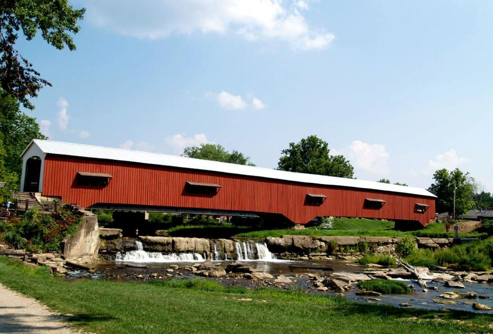Download Free Stock HD Photo of Rockville Covered Bridge Online