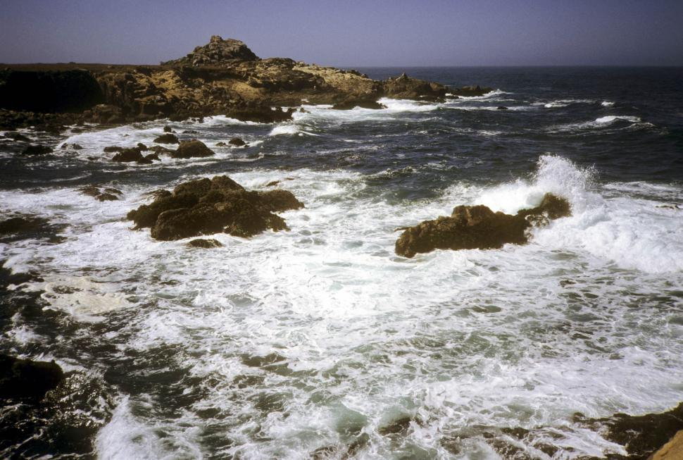 Download Free Stock HD Photo of waves in a rocky ocean Online