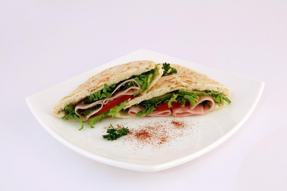 Download Free Stock HD Photo of Pita Sandwich Online