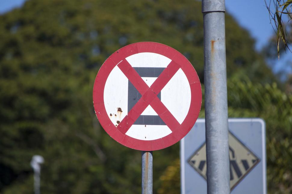Download Free Stock HD Photo of No parking or stopping sign Online