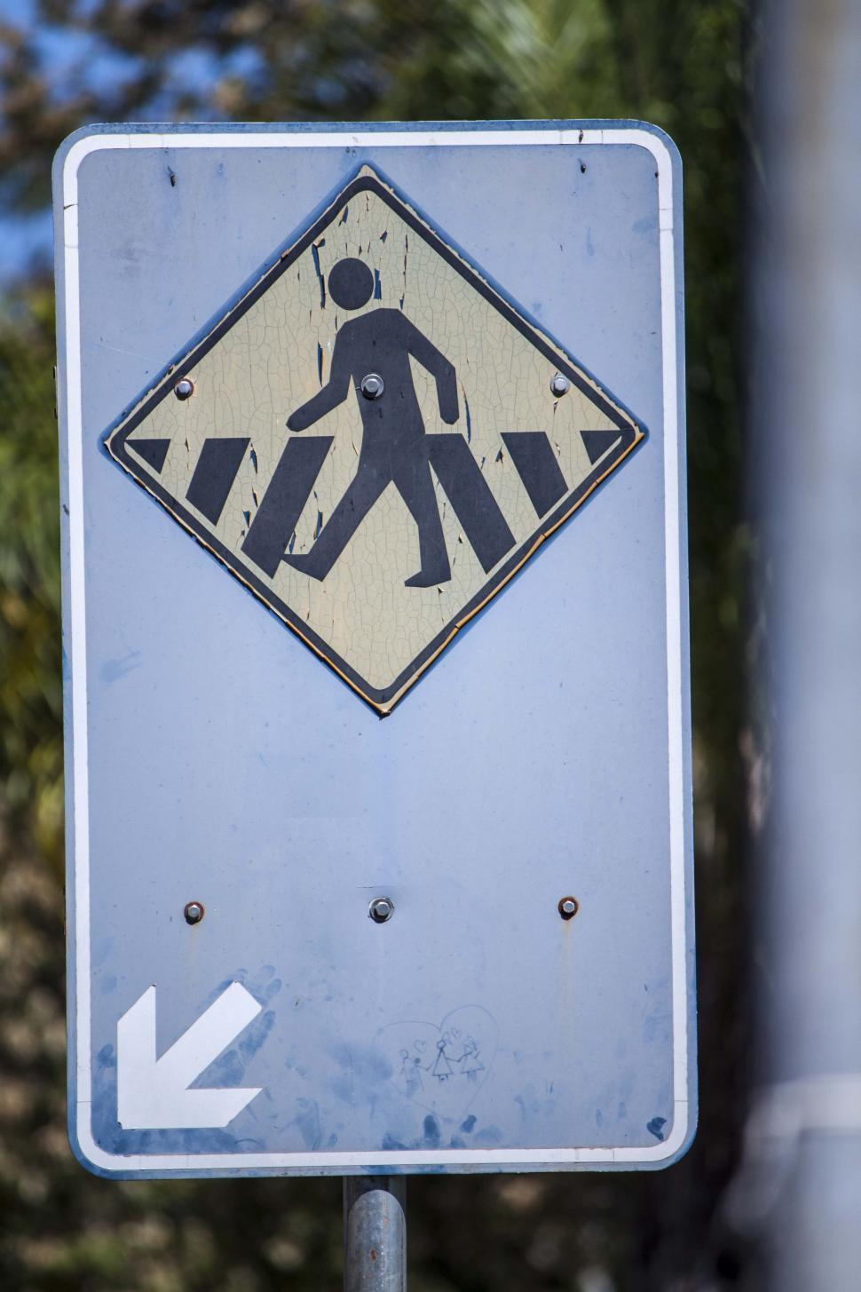 Download Free Stock HD Photo of Brazillian Crosswalk sign Online