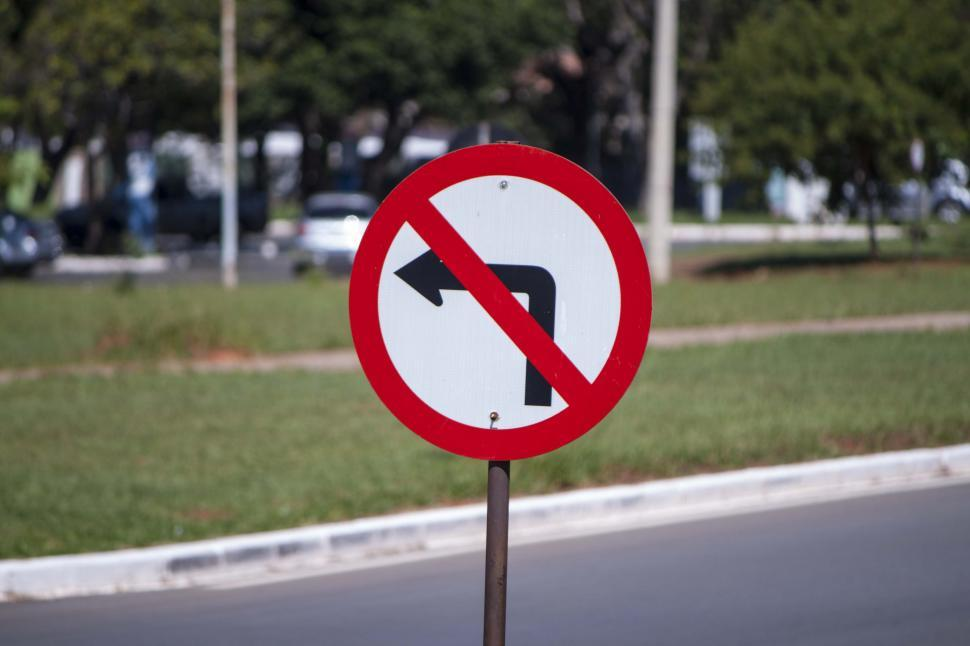 Download Free Stock HD Photo of No left turn sign Online