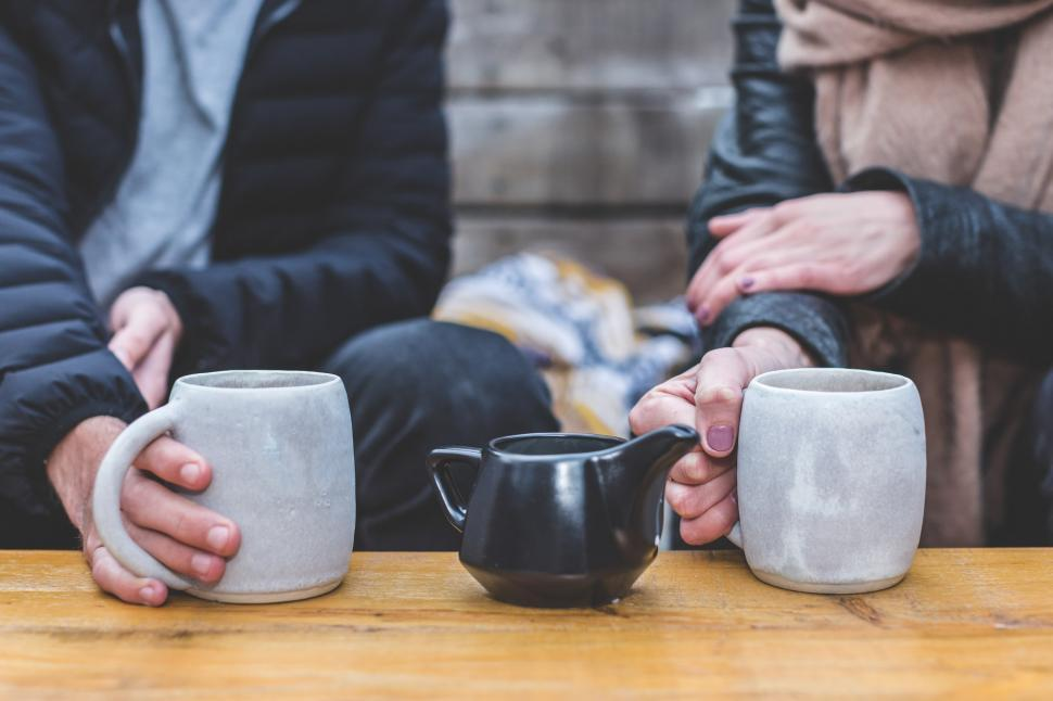 Download Free Stock HD Photo of Coffee Date Couple Online