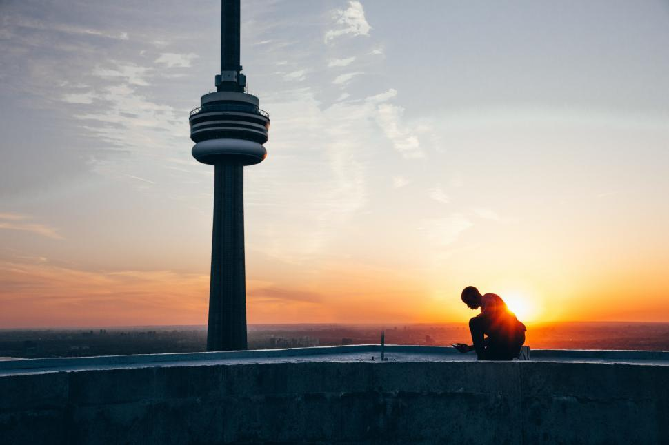 Download Free Stock HD Photo of Sunrise Over Toronto Online