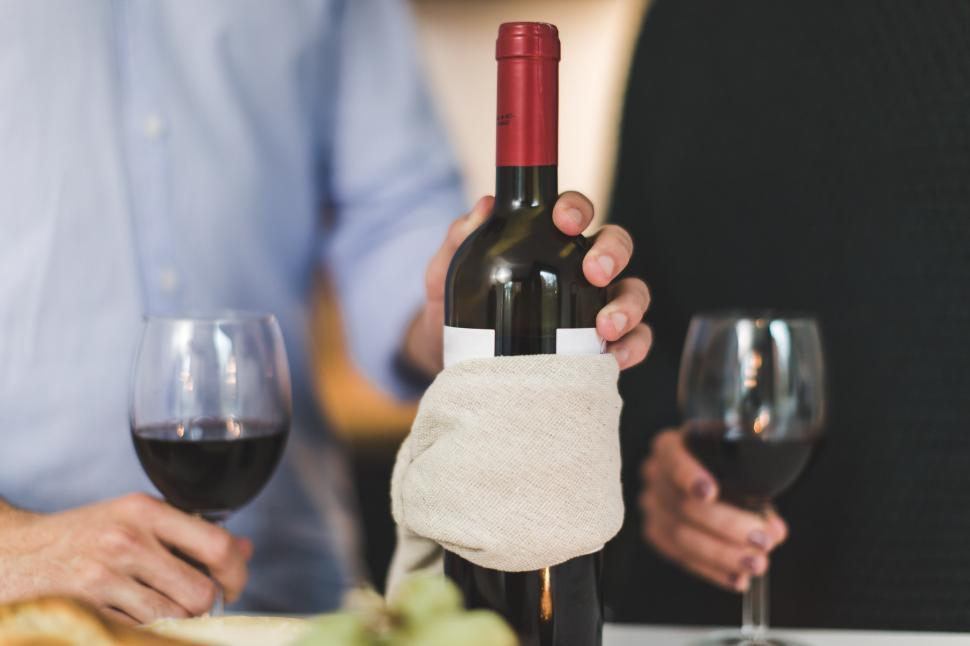 Download Free Stock HD Photo of Red Wine Two Glasses Online