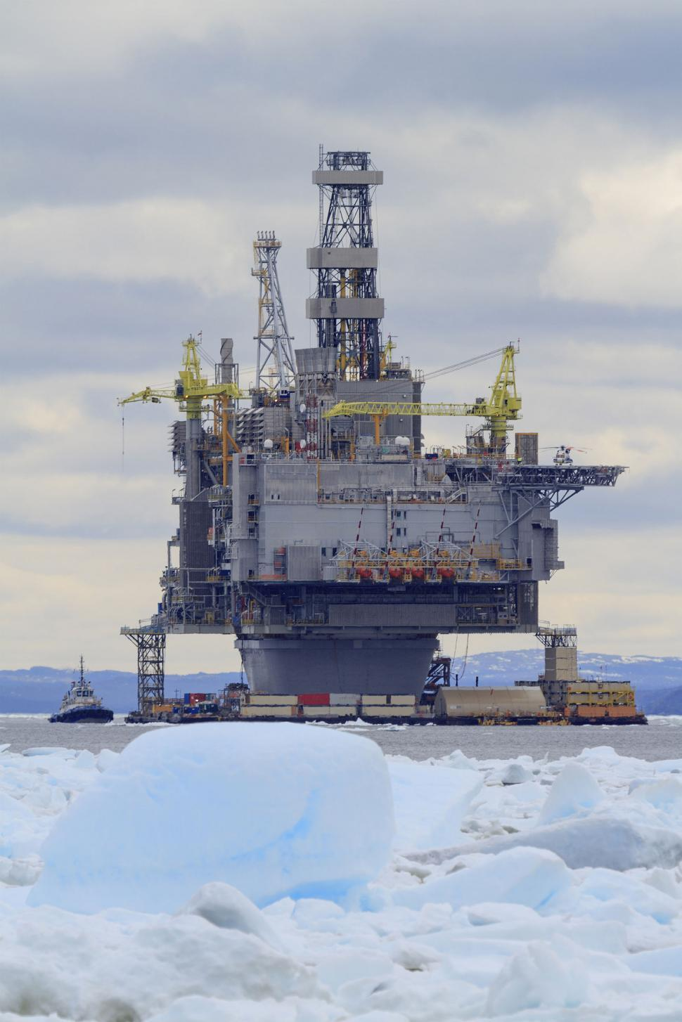 Download Free Stock HD Photo of Oil platform with ice Online