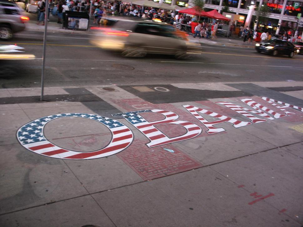 Download Free Stock HD Photo of Obama Sidewalk Online