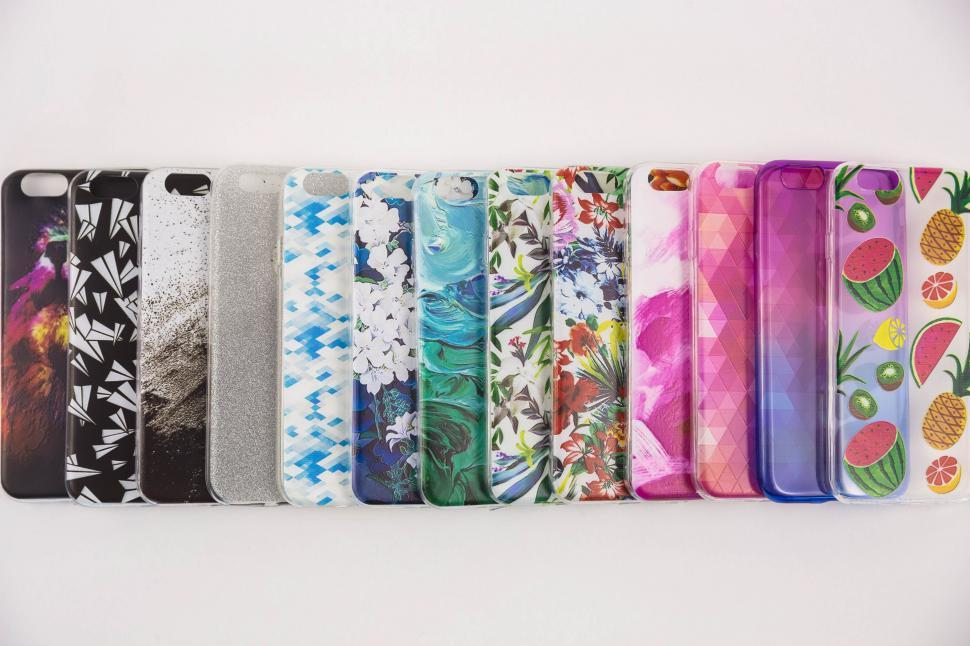 Download Free Stock HD Photo of Colorful Cellphone Cases Online