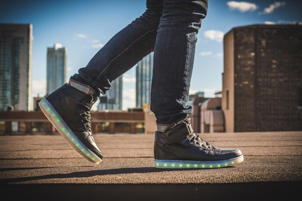 Download Free Stock HD Photo of Glowing Shoes Online