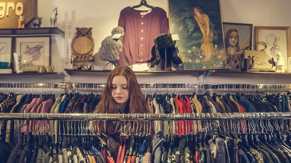 Download Free Stock HD Photo of Vintage clothes shopping Online