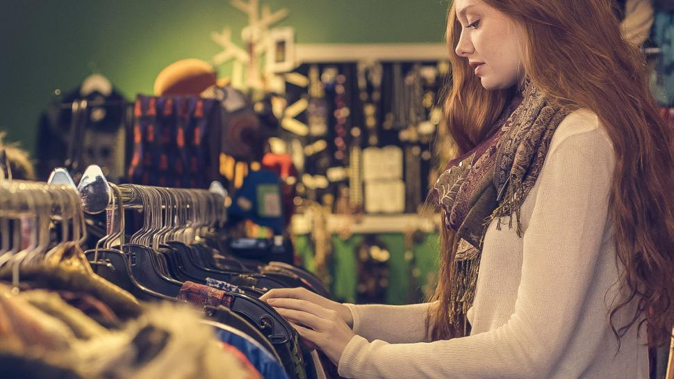 Download Free Stock HD Photo of Woman Shopping For Clothes Online