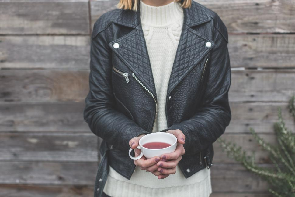 Download Free Stock HD Photo of Leather Jacket And Tea Online