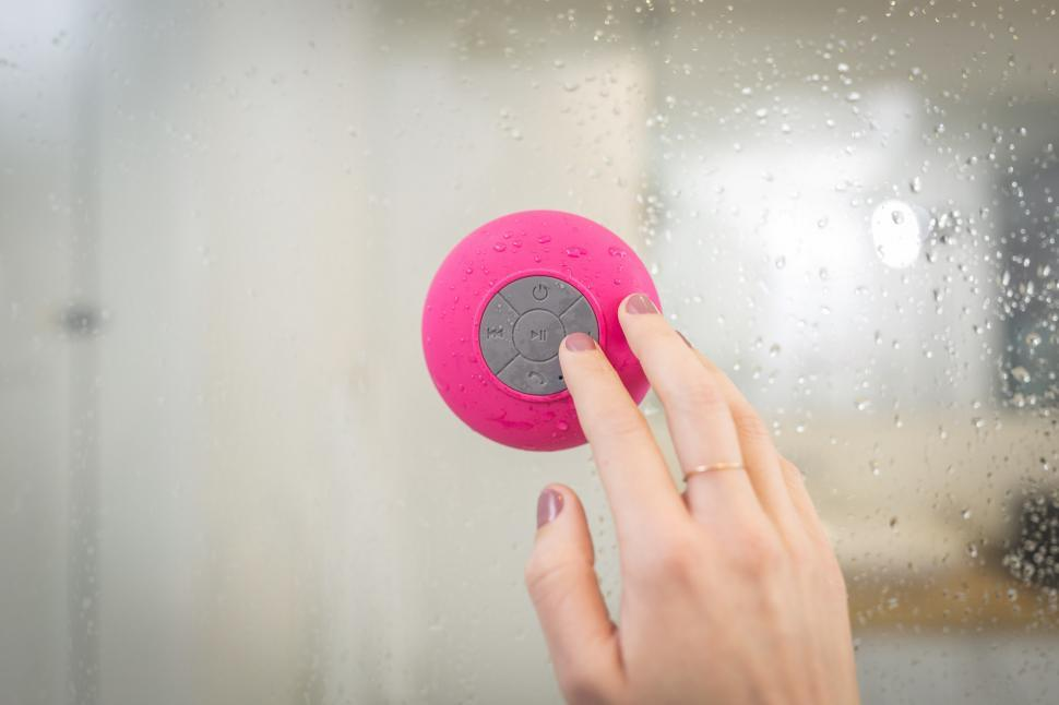 Download Free Stock HD Photo of Pink Shower Speaker Online