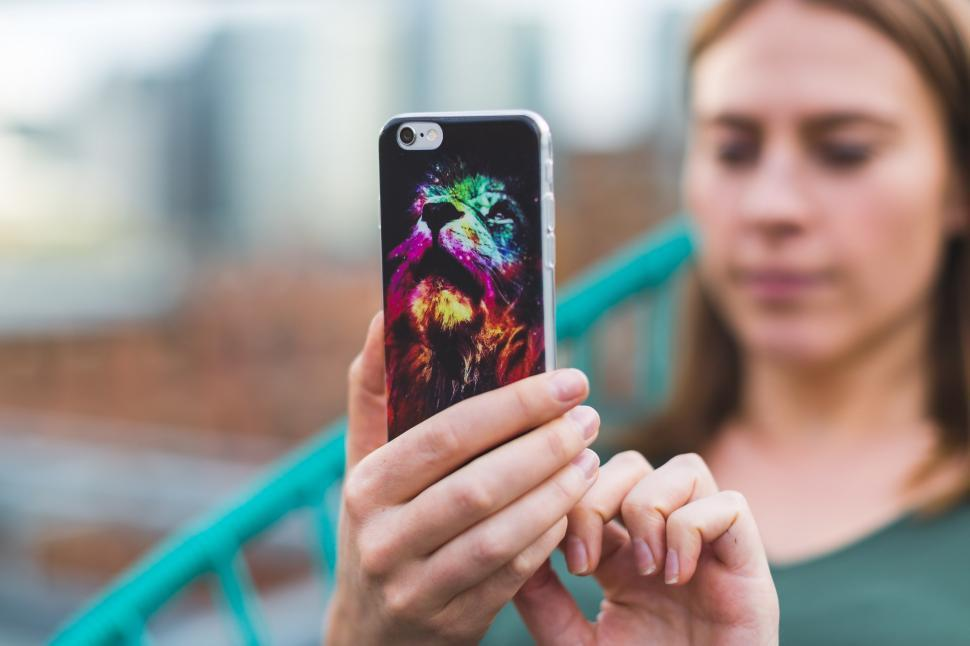 Download Free Stock HD Photo of Woman Using Mobile App Online