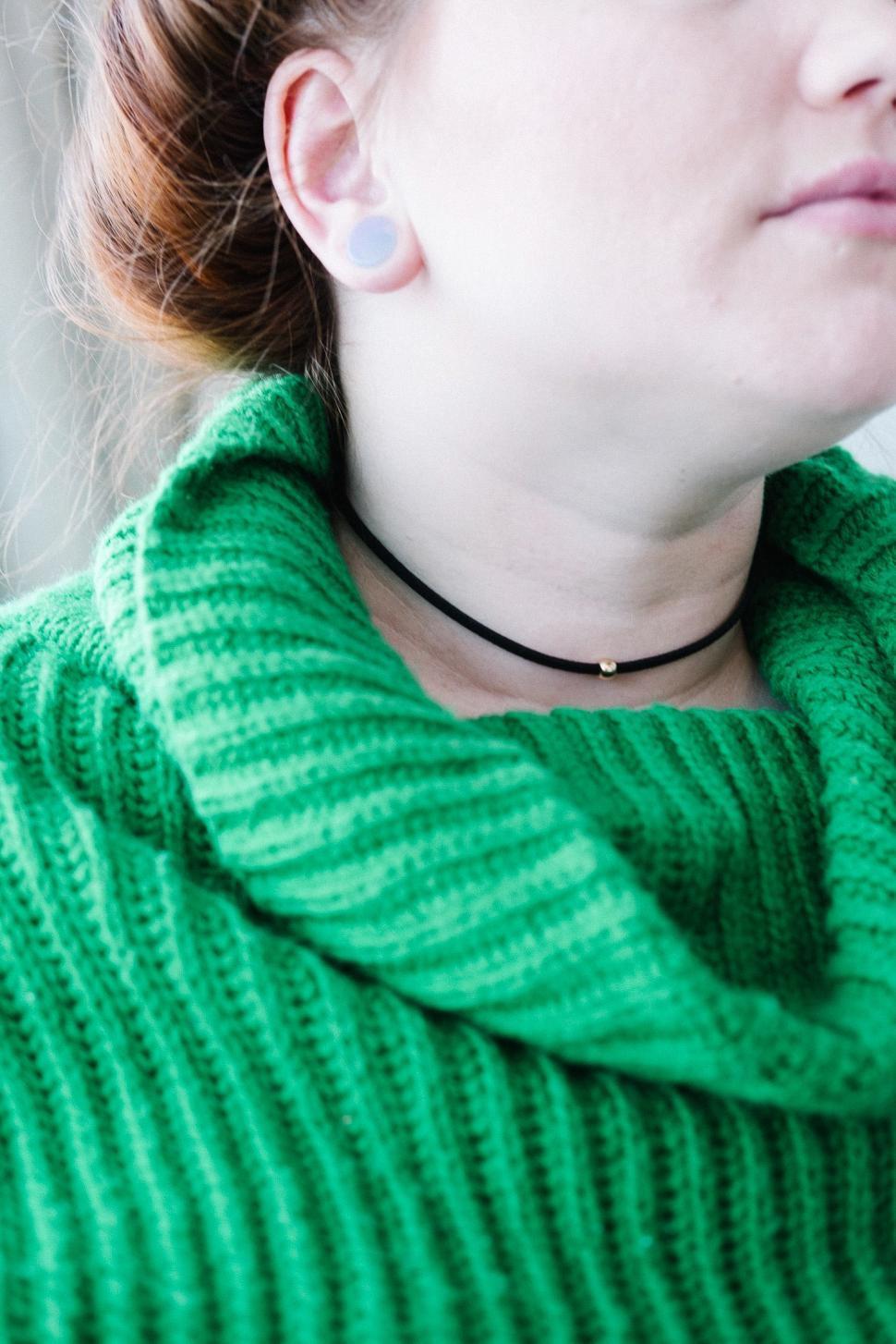 Download Free Stock HD Photo of Black Velvet Choker Necklace Online