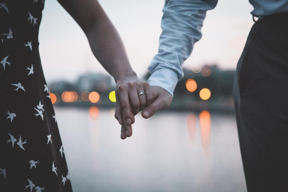 Download Free Stock HD Photo of Married Couple Holding Hands Online