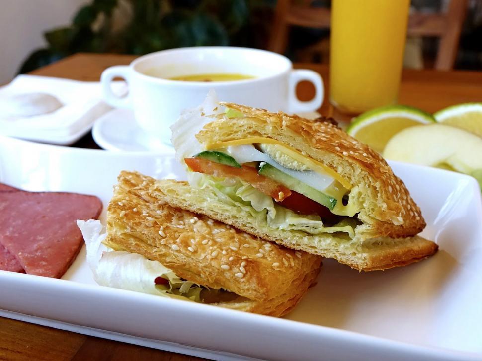 Download Free Stock HD Photo of Breakfast pocket Online