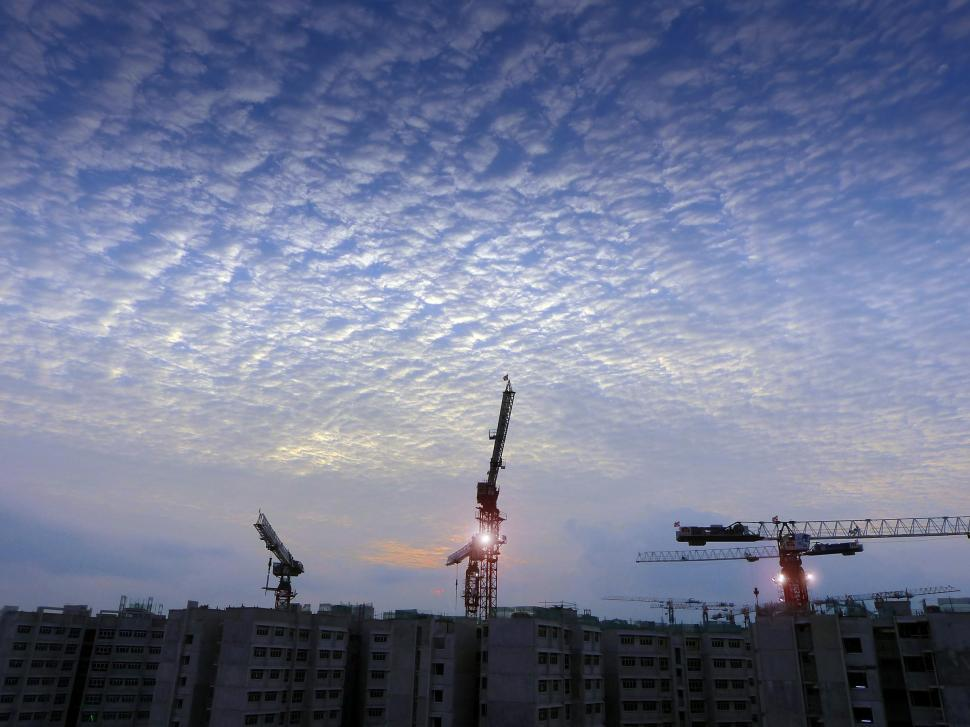 Download Free Stock HD Photo of Construction Work and cranes Online