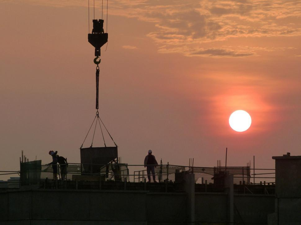 Download Free Stock HD Photo of Sunset concrete work Online
