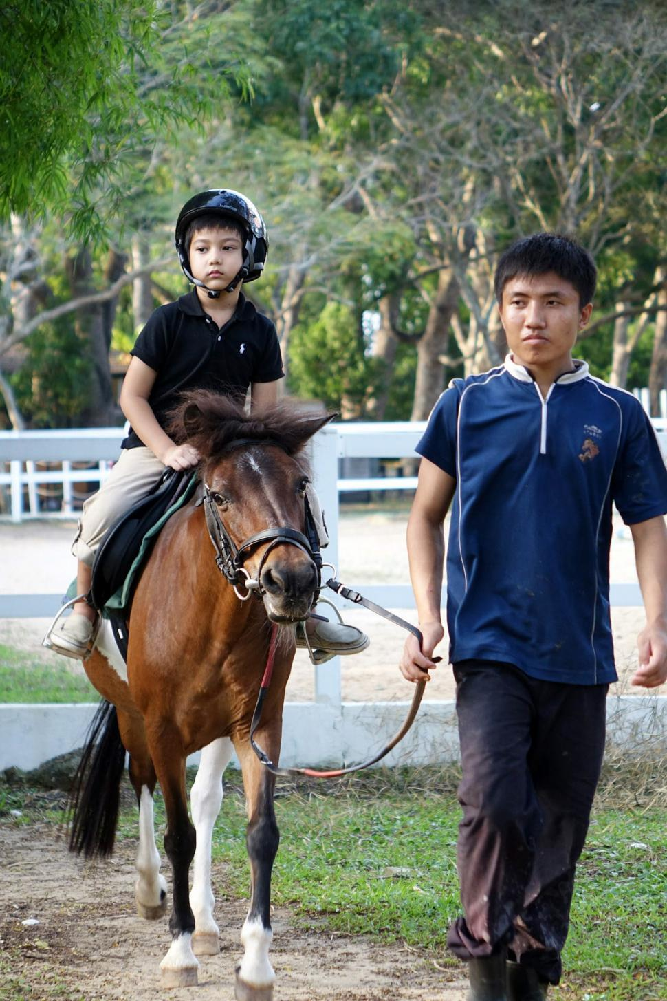 Download Free Stock HD Photo of Horse Riding with lead Online