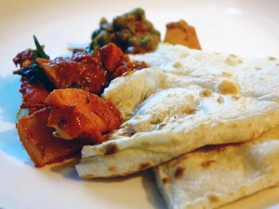 Download Free Stock HD Photo of Indian Food - Naan Bread Online