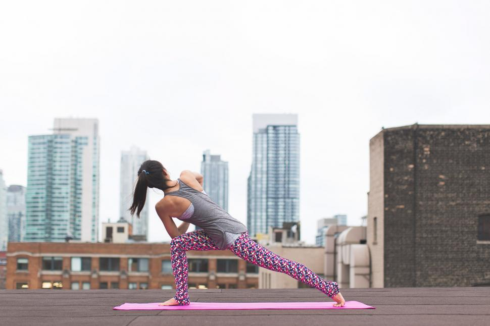 Download Free Stock HD Photo of High Lunge Yoga Online